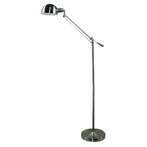 Adjustable pharmacy task reading hobby floor lamp for Pink floor reading lamp