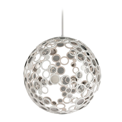 Corbett Lighting Corbett Lighting Fathom White Pendant Light with Globe Shade 187-44