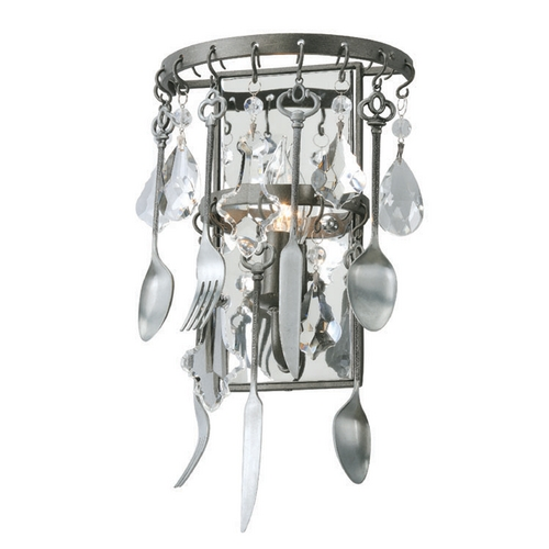 Troy Lighting Troy Lighting Bistro Graphite with Antique Pewter Flatware Sconce B3801