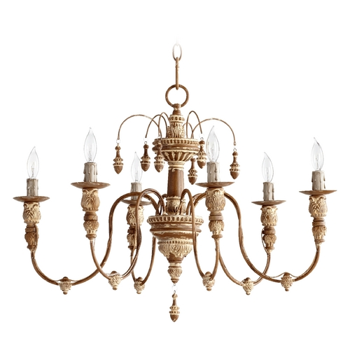 Quorum Lighting Quorum Lighting Salento French Umber Chandelier 6316-6-94