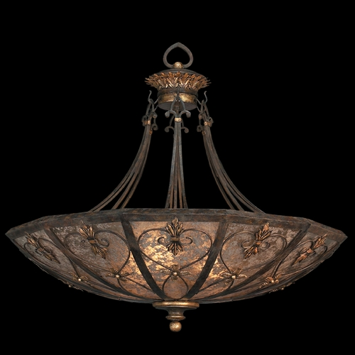 Fine Art Lamps Fine Art Lamps Villa 1919 Umber with Gilded Accents Pendant Light 179942ST