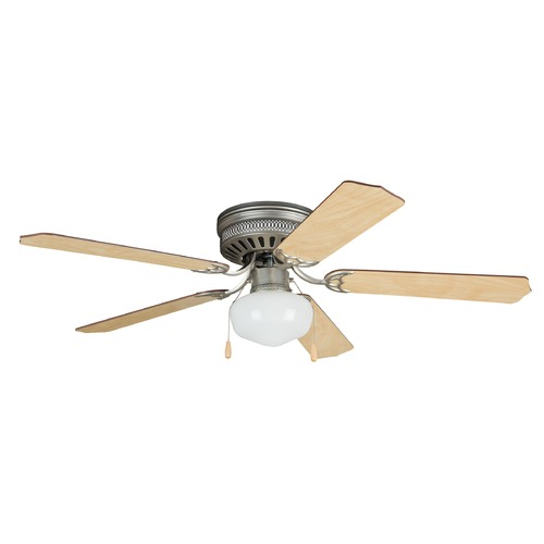 Ellington Fans Craftmade Lighting Celeste Deluxe Brushed Pewter Ceiling Fan with Light CC52BP5C1