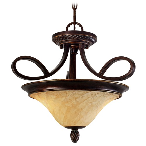Golden Lighting Golden Lighting Torbellino Cordoban Bronze Pendant Light 8106-SF CDB
