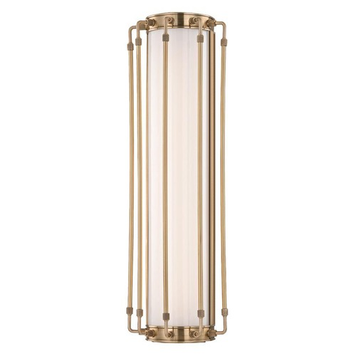 Hudson Valley Lighting Hyde Park Aged Brass LED Bathroom Light 9720-AGB