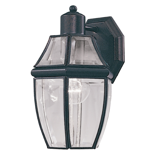Maxim Lighting Outdoor Wall Light with Clear Glass in Black Finish 4010CLBK
