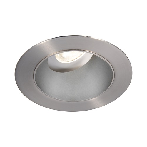 WAC Lighting WAC Lighting Round Haze Brushed Nickel 3.5-Inch LED Recessed Trim 3000K 1225LM 18 Degree HR3LEDT318PS830HBN