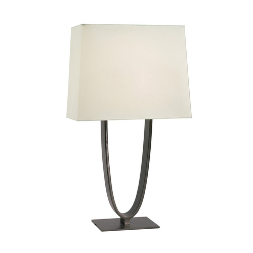 Sonneman Lighting Modern Table Lamp with White Shades in Black Brass Finish 7042.51