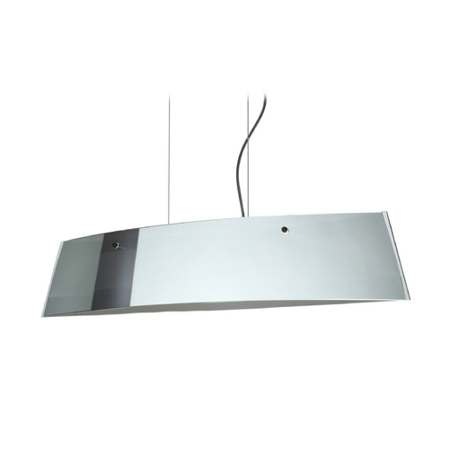 Besa Lighting Modern Island Light with White Glass in Bronze Finish LS4-4455MR-BR