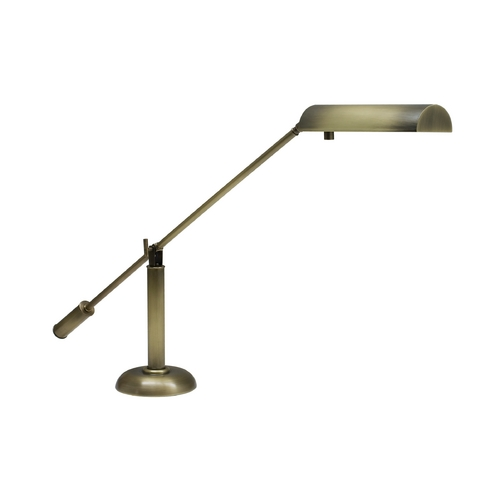 House of Troy Lighting Piano / Banker Lamp in Antique Brass Finish PH10-195-AB