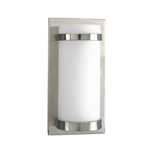 Progress Lighting Progress Modern Sconce Wall Light with White Glass P7068-09