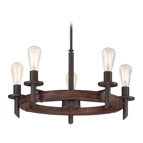 Quoizel Lighting Chandelier in Darkest Bronze Finish TVN5005DK