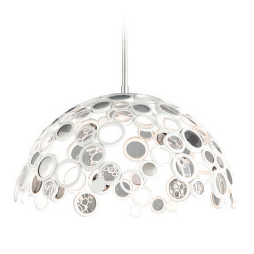 Corbett Lighting Corbett Lighting Fathom White Pendant Light with Bowl / Dome Shade 187-45