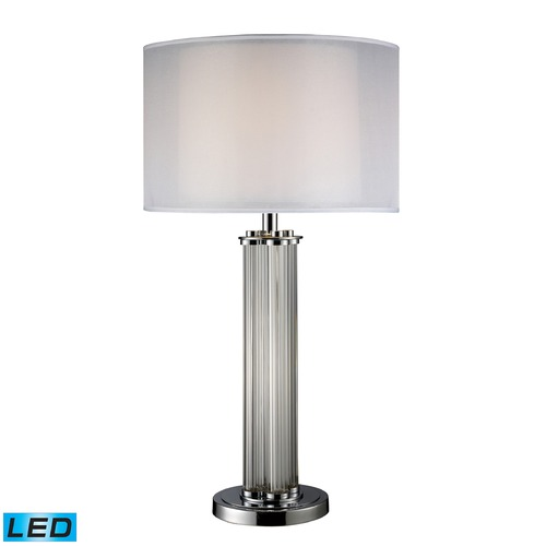Dimond Lighting Dimond Lighting Chrome LED Table Lamp with Drum Shade D1614-LED