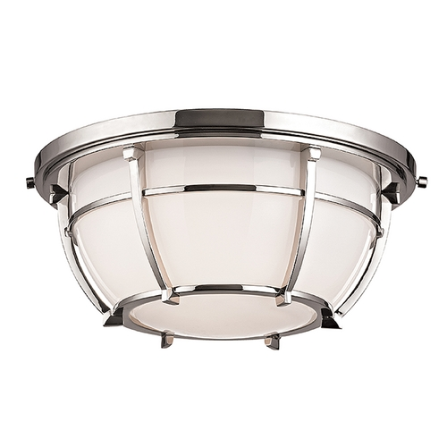 Hudson Valley Lighting Hudson Valley Lighting Conrad Polished Nickel Flushmount Light 4112-PN