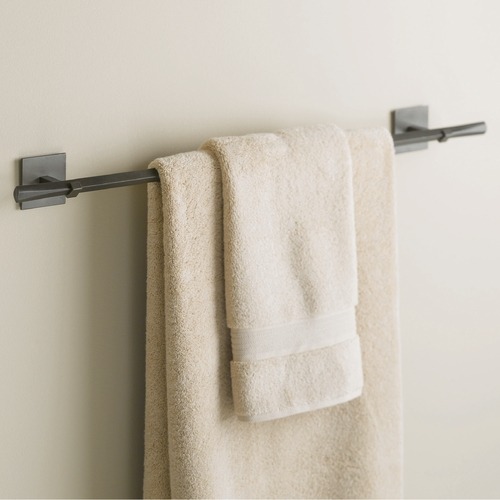 Hubbardton Forge Lighting Hubbardton Forge Lighting Beacon Hall Dark Smoke Towel Bar 843012-07
