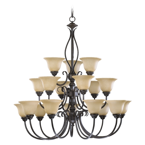 Quorum Lighting Quorum Lighting Spencer Toasted Sienna Chandelier 6010-18-44