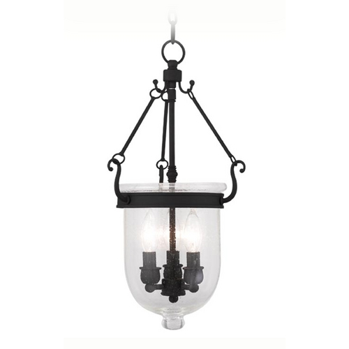 Livex Lighting Livex Lighting Jefferson Black Pendant Light with Bowl / Dome Shade 5083-04