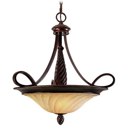 Golden Lighting Golden Lighting Torbellino Cordoban Bronze Pendant Light 8106-3P CDB