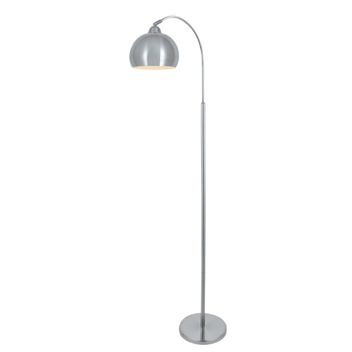 Lite Source Lighting Lite Source Palesa Polished Steel Arc Lamp with Bowl / Dome Shade LS-82597PS