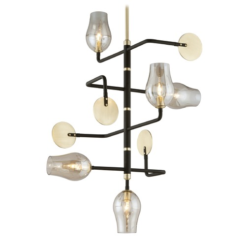 Troy Lighting Troy Lighting Equilibrium Textured Bronze Pendant Light with Bowl / Dome Shade F5315