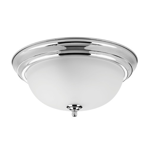 Progress Lighting Progress Lighting Dome Glass Polished Chrome Flushmount Light P3925-15ET