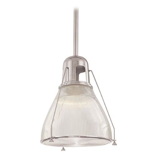 Hudson Valley Lighting Prismatic Glass Pendant Light Satin Nickel Hudson Valley Lighting 7315-SN
