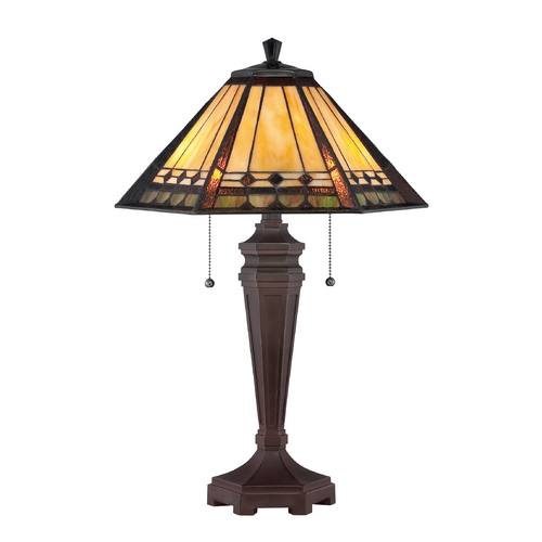 Quoizel Lighting Table Lamp with Tiffany Glass TF1135T