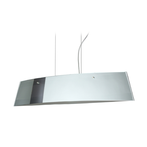 Besa Lighting Modern Island Light with White Glass in Polished Nickel Finish LS4-4455MR-PN