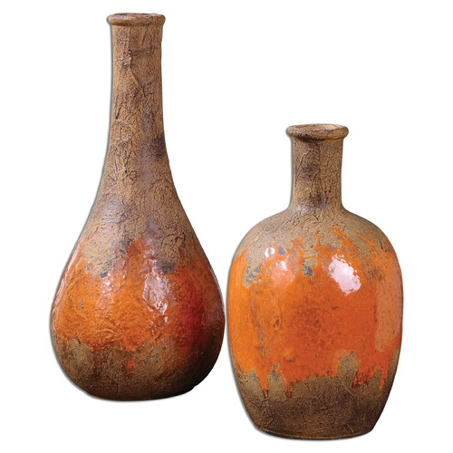 Uttermost Lighting Uttermost Kadam Ceramic Vases Set of 2 19825