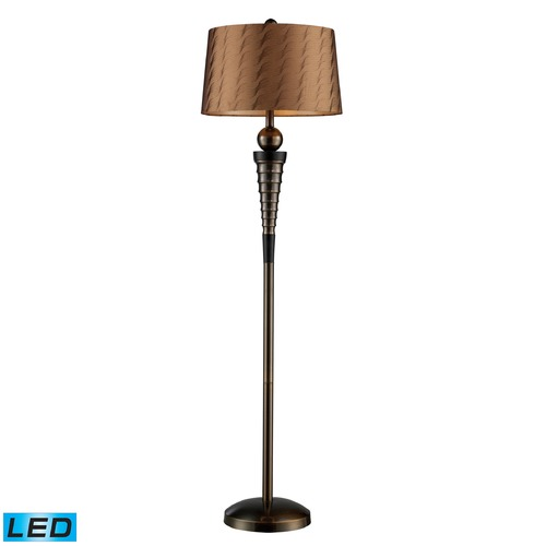 Dimond Lighting Dimond Lighting Dunbrook, Dark Wood LED Floor Lamp with Empire Shade D1739-LED
