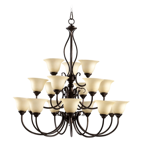 Quorum Lighting Quorum Lighting Spencer Mystic Silver Chandelier 6010-18-58