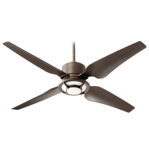 Quorum Lighting Quorum Lighting Axel Oiled Bronze Ceiling Fan with Light 82524-86