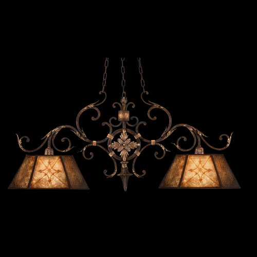 Fine Art Lamps Fine Art Lamps Villa 1919 Umber with Gilded Accents Pendant Light with Hexagon Shade 236840ST