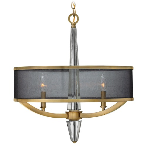 Hinkley Lighting Hinkley Lighting Ascher Brushed Caramel Pendant Light with Cylindrical Shade 4753BC