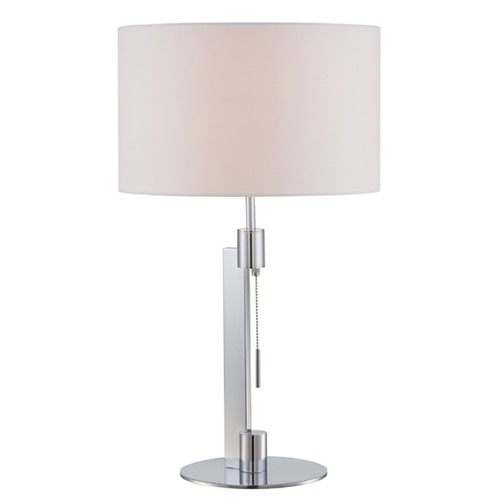 Lite Source Lighting Lite Source Catriona Chrome Table Lamp with Drum Shade LS-22735