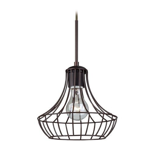 Besa Lighting Besa Lighting Spezza Bronze Mini-Pendant Light with Urn Shade 1JT-SPEZ07-BR