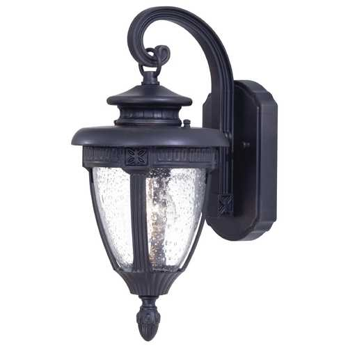 Minka Lighting Outdoor Wall Light with Clear Glass in Heritage Finish 8951-94