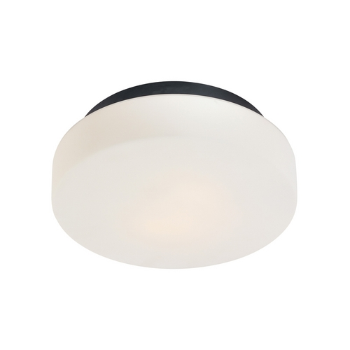 Sonneman Lighting Modern Flushmount Light with White Glass in Satin Black Finish 4159.25