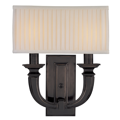 Hudson Valley Lighting Sconce Wall Light with White Shades in Old Bronze Finish 542-OB