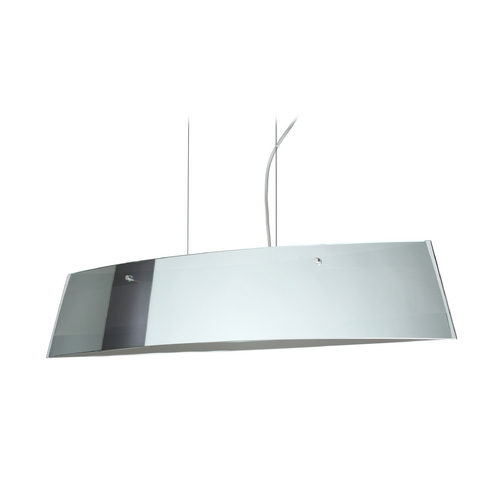 Besa Lighting Modern Island Light with White Glass in Satin Nickel Finish LS4-4455MR-SN
