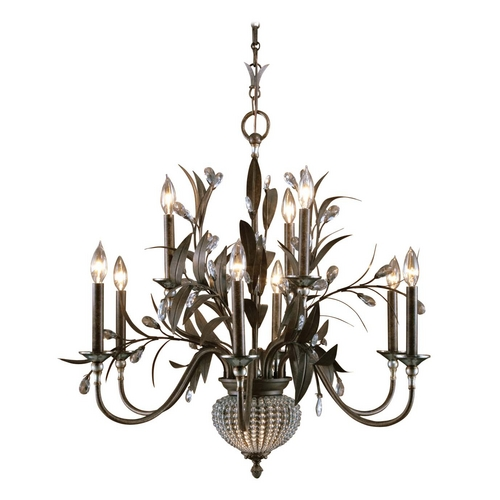 Uttermost Lighting Crystal Chandelier in Golden Bronze Finish 21094