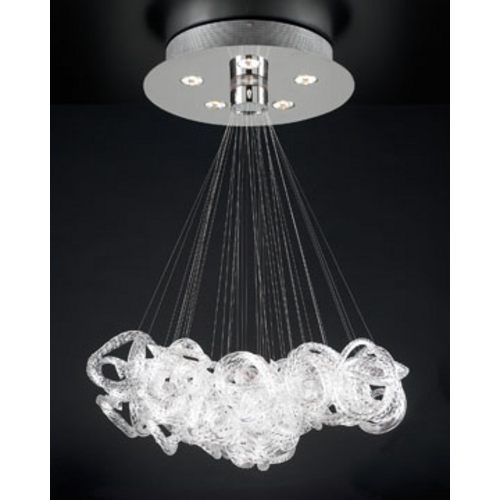 PLC Lighting Modern Pendant Light in Polished Chrome Finish 96978 PC