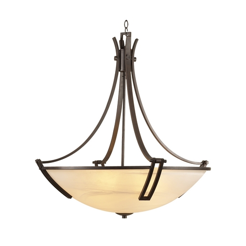 PLC Lighting Modern Pendant Light with White Glass in Oil Rubbed Bronze Finish 14869 ORB