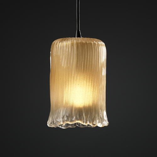 Justice Design Group Justice Design Group Veneto Luce Collection Mini-Pendant Light GLA-8815-16-GLDC-DBRZ
