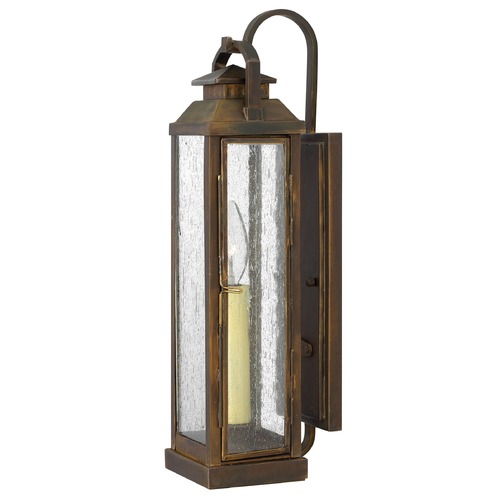 Hinkley Lighting Outdoor Wall Light with Clear Glass in Sienna Finish 1180SN