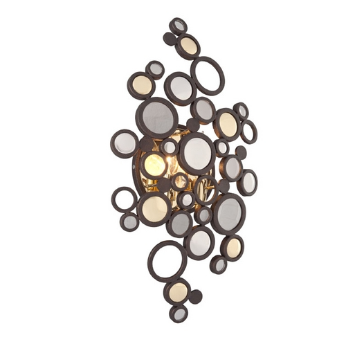 Corbett Lighting Corbett Lighting Fathom Bronze with Polished Brass LED Sconce 188-12