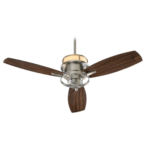Quorum Lighting Quorum Lighting Bristol Satin Nickel Ceiling Fan with Light 54543-65