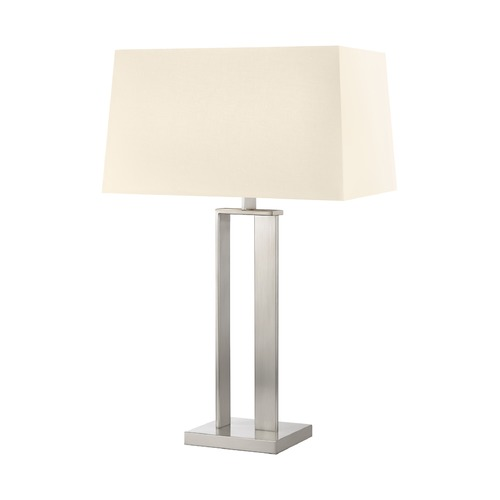 Sonneman Lighting Sonneman D Satin Nickel 2 Light Table Lamp   4690.13