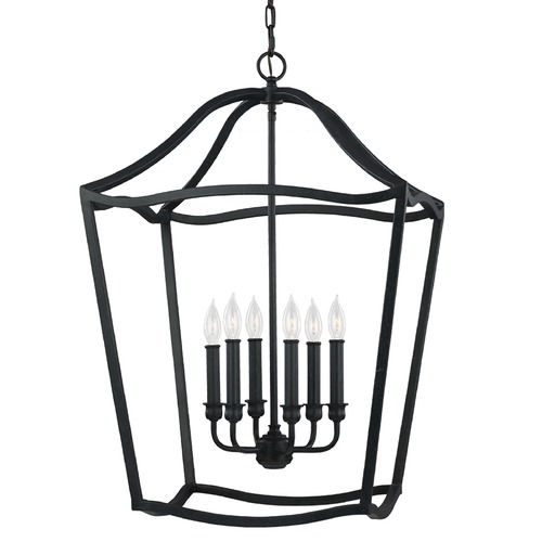 Feiss Lighting Feiss Lighting Yarmouth Antique Forged Iron Pendant Light F2976/6AF