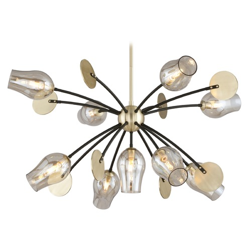 Troy Lighting Troy Lighting Equilibrium Textured Bronze Pendant Light with Bowl / Dome Shade F5317